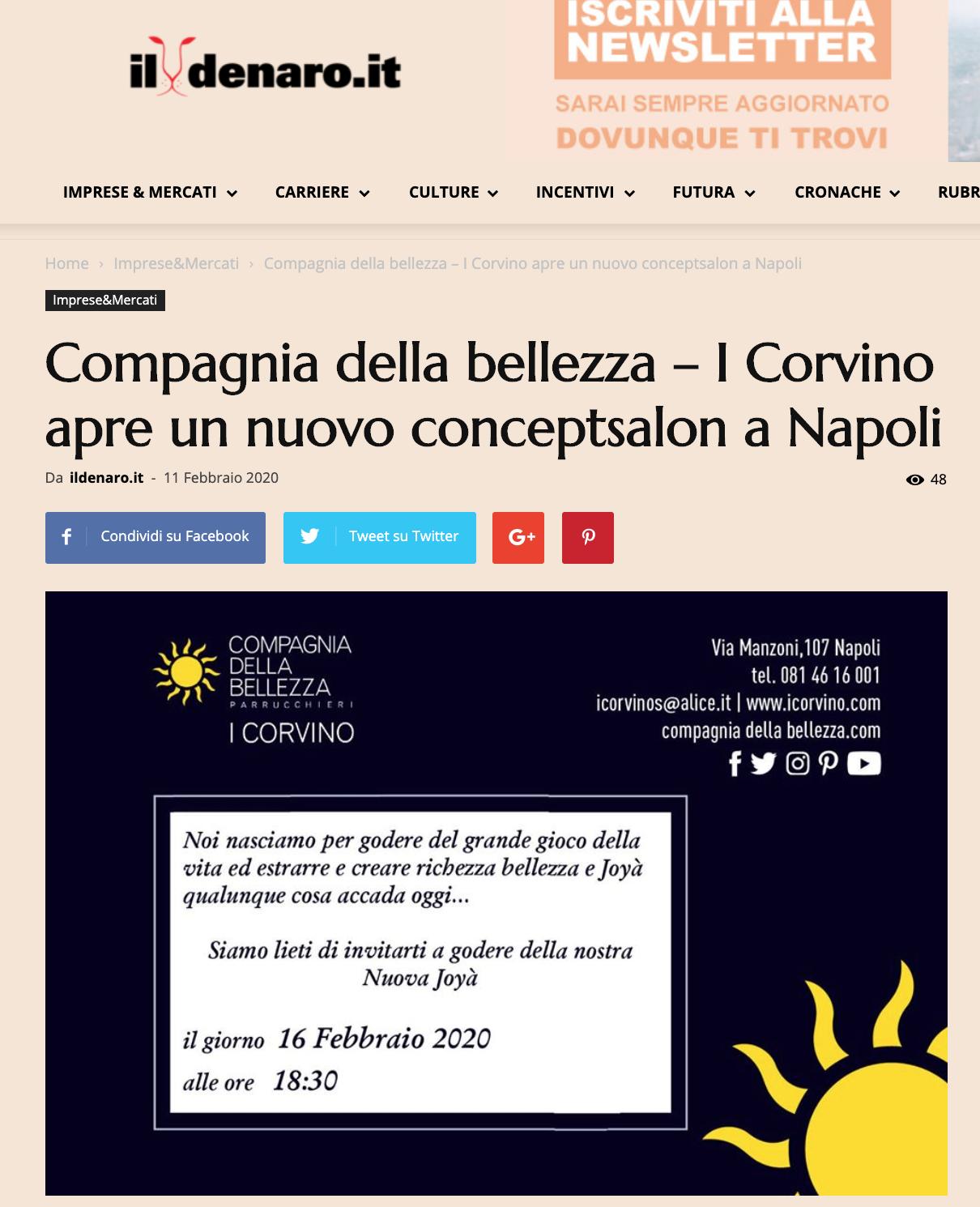 Compagnia della bellezza – I Corvino apre un nuovo concept salon a Napoli